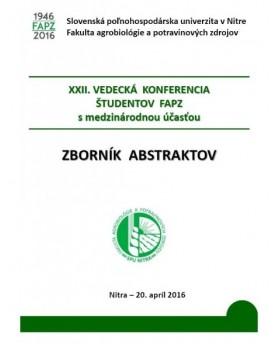 XXII. Vedecká konferencia...